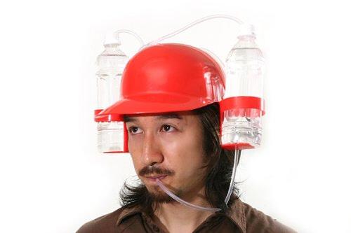 ドリンクホルダー付ヘルメット