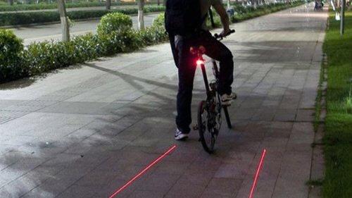 自転車の車幅を示すライト