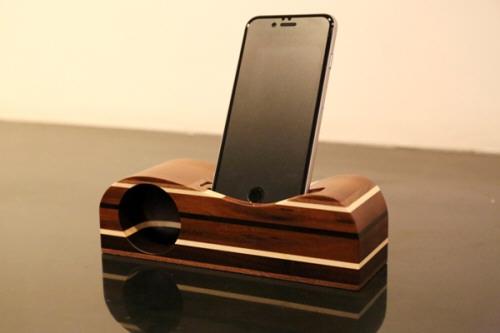 寄木細工のスピーカー