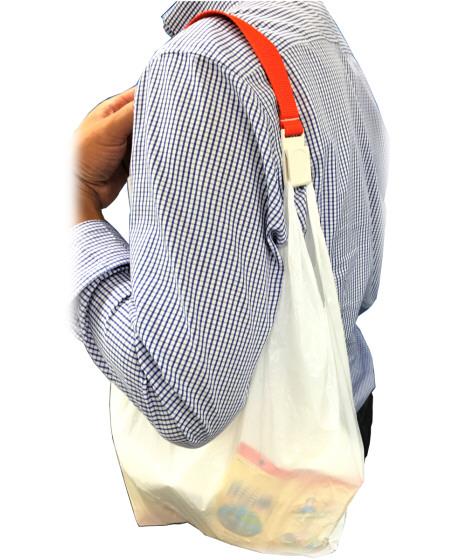 ショッピングバンド~レジ袋の持ち手をつなげるバンド~